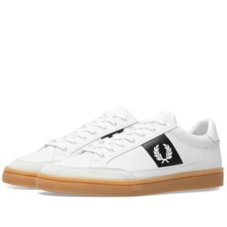 Fred Perry Deuce Leather Suede Sneaker (White)