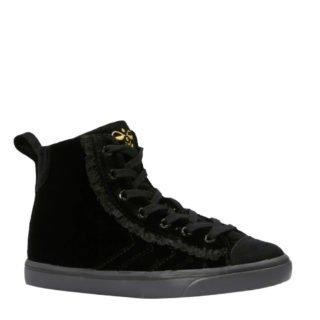 hummel Strada Velvet sneakers (meisjes) (zwart)