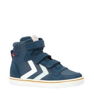 hummel Stadil leren sneakers jongens (blauw)