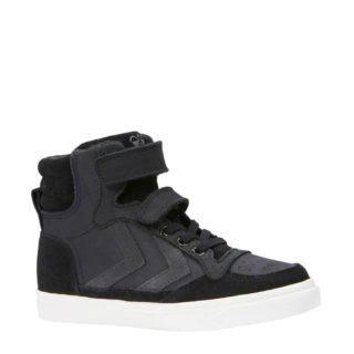 hummel Stadil leren sneakers kids (zwart)