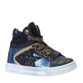 Mim-Pi sneakers met glitters donkerblauw (meisjes) (blauw)