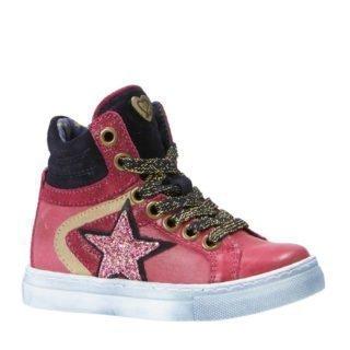 Mim-Pi sneakers met glitters fuchsia (meisjes) (roze)