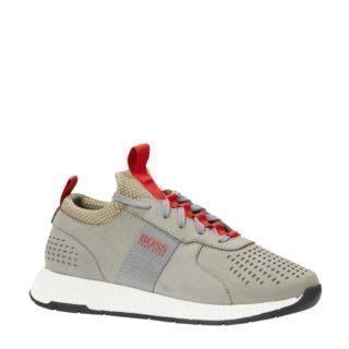 Boss nubuck leren sneakers grijs (heren) (grijs)