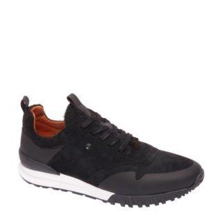 vanHaren AM SHOE suède sneaker zwart (heren) (zwart)