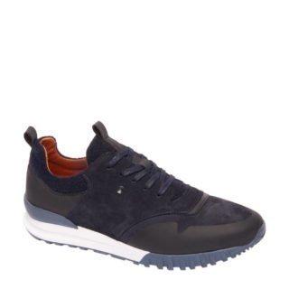 vanHaren AM SHOE suède sneaker blauw (heren) (blauw)