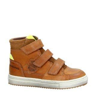 Vingino leren sneakers cognac jongens (bruin)