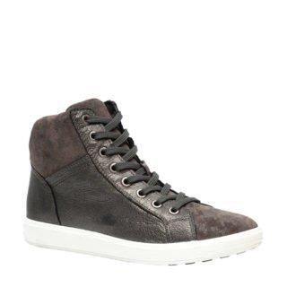 Natuform leren sneakers grijsbruin (dames) (grijs)