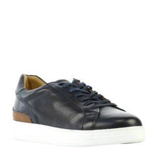 By Berry leren sneakers marine (heren) (blauw)