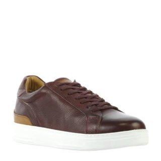 By Berry leren sneakers bordeaux rood (heren) (rood)