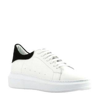Lina Locchi leren plateau sneakers wit (dames) (wit)