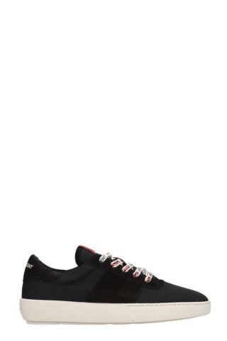 REPRESENT REPRESENT Court Black Cotton Sneakers (zwart)