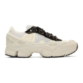 Raf Simons White and Grey adidas Originals Edition Ozweego III Sneakers