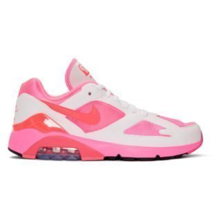 Comme des Garcons Homme Plus White and Pink Nike Edition Air Max 180 Sneakers