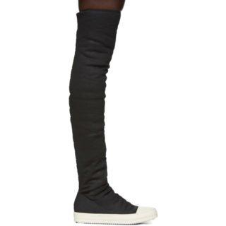 Rick Owens Drkshdw Black Stocking Sneakers