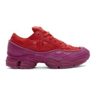 Raf Simons Red and Pink adidas Originals Edition Ozweego Sneakers
