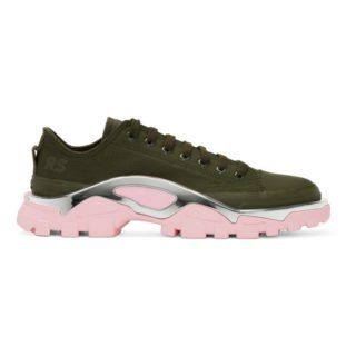 Raf Simons Green and Pink adidas Originals Edition RS Detroit Runner Sneakers