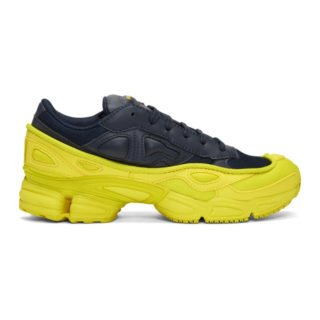 Raf Simons Navy and Yellow adidas Originals Edition Ozweego Sneakers