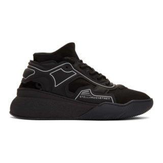 Stella McCartney Black Fabric Running Sneakers