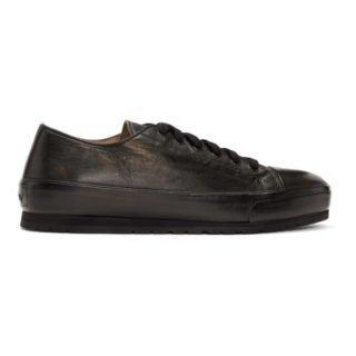 Brioni Black Lambskin Low-Top Sneakers