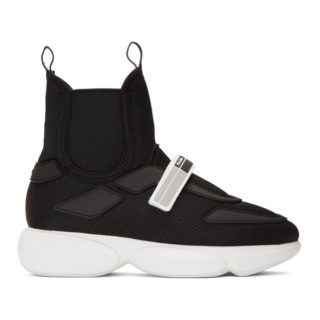 Prada Black Cloudbust High-Top Sneakers