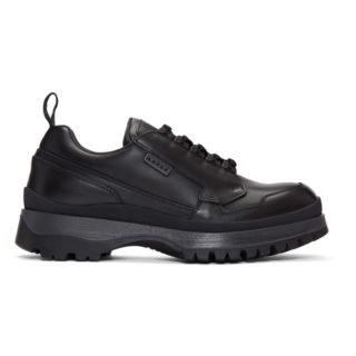 Prada Black Allaciate Sneakers