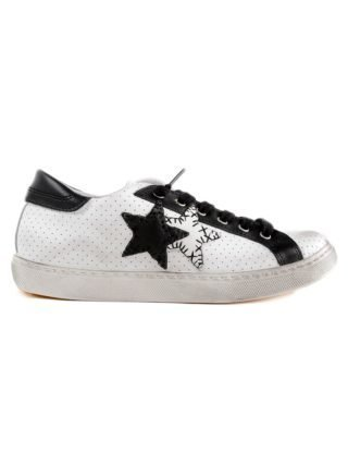2Star 2 Star Two Star Patch Sneakers (wit/zwart)