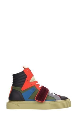 Gienchi Gienchi Hypnos Multicolor Leather And Suede Sneakers (groen)