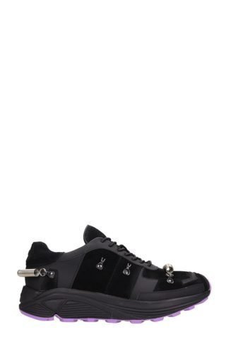 Gienchi Gienchi Black Leather And Suede Sneakers (zwart)