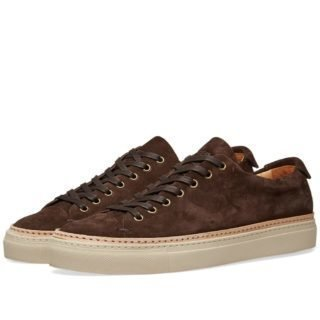 Buttero Tanino Low Suede Welt Sneaker (Brown)