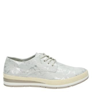 Marco Tozzi lage sneakers grijs