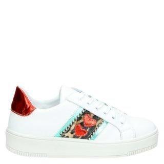 PS Poelman lage sneakers wit