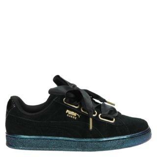 Puma Suede Heart Satin lage sneakers zwart