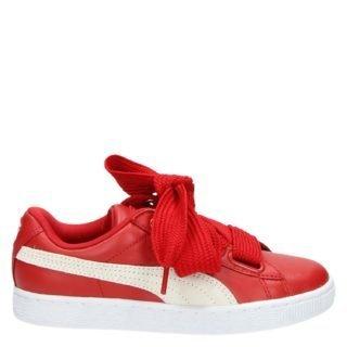 Puma Basket Heart lage sneakers rood