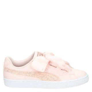 Puma Basket Heart lage sneakers roze