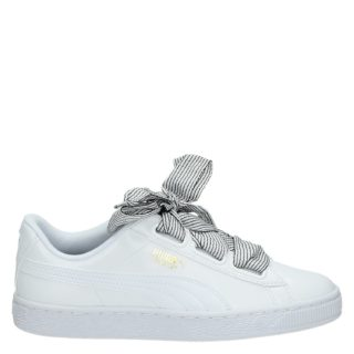 Puma Basket Heart lage sneakers wit