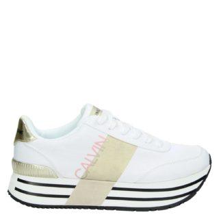Calvin Klein Coretta platform sneakers wit