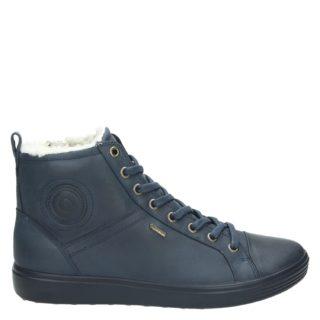 Ecco Soft 7 hoge sneakers blauw