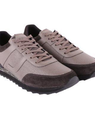 Trussardi Trussardi Leather Sneakers (grijs)