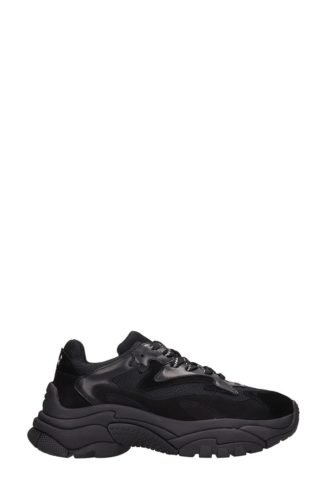 Ash Ash Atomic Black Leather And Fabric Sneakers (zwart)