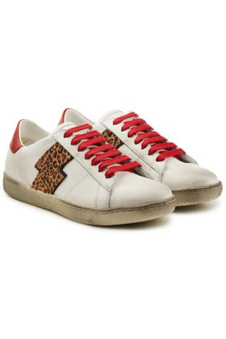 Amiri Viper Leopard Low Leather Sneakers 282393 (wit)