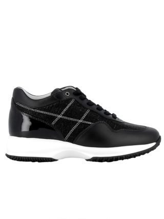Hogan Hogan Black Leather-fabric Sneakers (zwart)