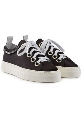 N°21 Gymnic Satin Sneakers with Embellishment #{lastAddedProduct.name} (zwart)