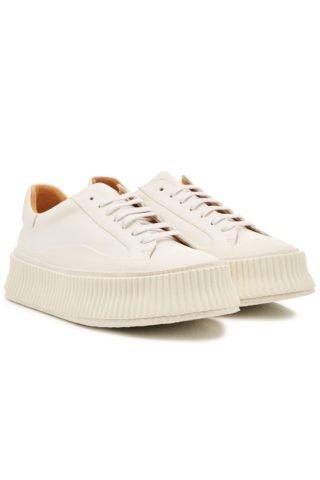 Jil Sander Leather Platform Sneakers #{lastAddedProduct.name} (wit)