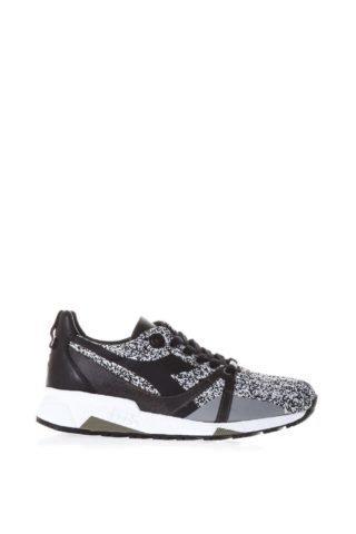 Diadora Heritage Diadora Heritage Black Heritage Shoes In Nylon (wit/zwart)