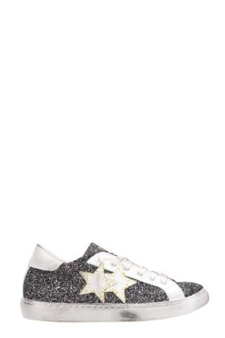 2Star 2Star Low Blue Gold Glitter Sneakers (blauw)