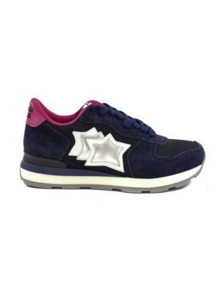 Atlantic Stars Vega In Blue Suede And Fabric Sneaker. (Overige kleuren)
