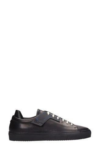 OAMC OAMC Patch Black Leather Sneakers (zwart)