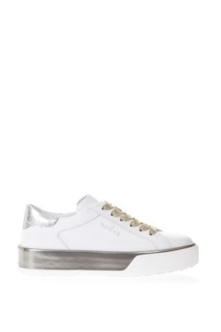 Hogan Hogan White H320 Sneakers With Metallic Inserts (wit)