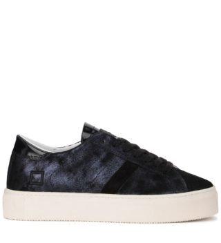 D.A.T.E. D.a.t.e. Vertigo Stardust Dark Blue Laminated Nabuck Sneaker (Overige kleuren)