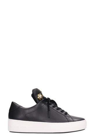 Michael Kors Michael Kors Mindy Black Leather Sneakers (zwart)